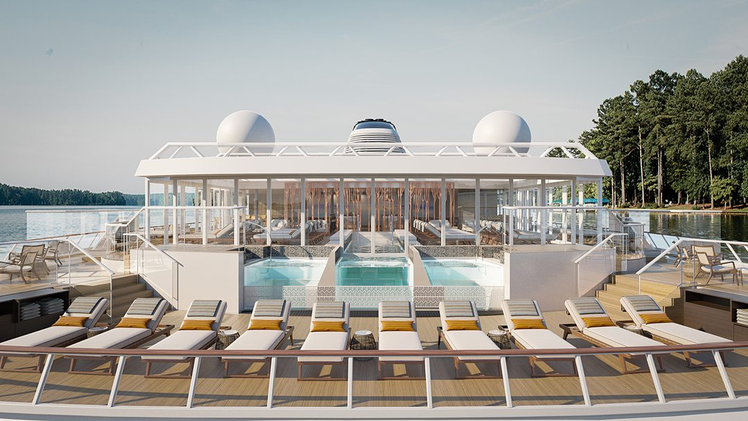 Rendering of the pool on the Viking Expeditions ship, Octantis.
