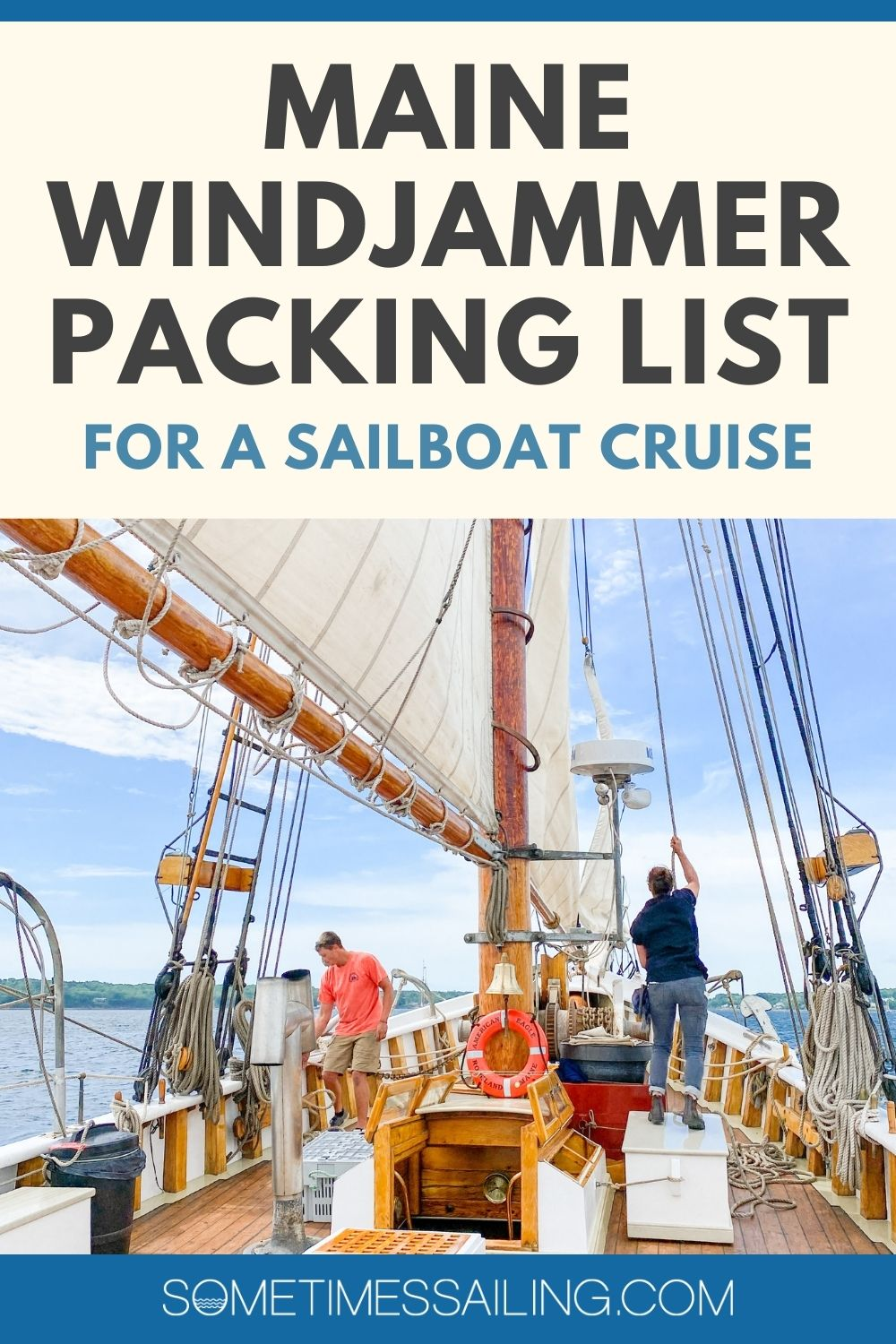 Maine Windjammer Packing List for a sailboat cruise.