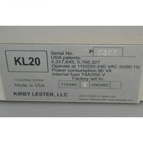 Kirby Lester KL20 PILL CAPSUPLE Counting System