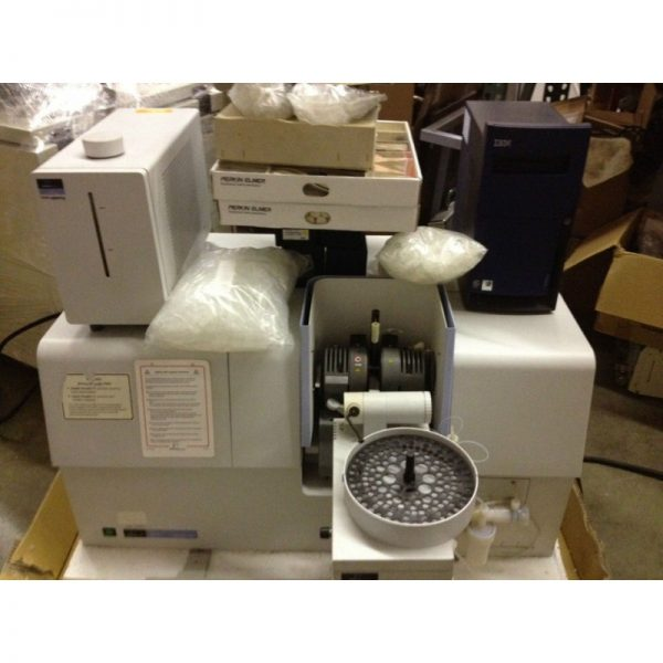 Perkin Elmer AAnalyst 600 Atomic Absorption Spectrometer With Computer and Software