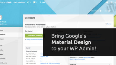 Photo of Material WP 1.0.5 – Material Design Dashboard Theme