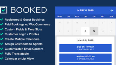 Photo of Booked v2.2, Appointment Booking for WordPress