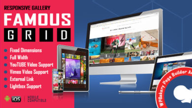 Photo of Famous v1.0 – Responsive Image & Video Grid Gallery for VC