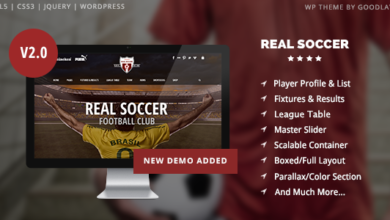 Photo of Real Soccer v2.31 – Sport Clubs Responsive WP Theme