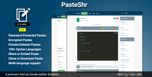 Pasteshr is a script which allows you to store any text online for easy sharing. The idea behind the script is to make it more convenient for people to share large amounts of text online.