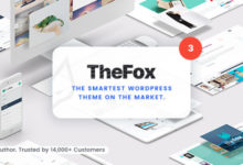 Photo of TheFox 3.9.5 Nulled – Responsive Multi-Purpose WordPress Theme