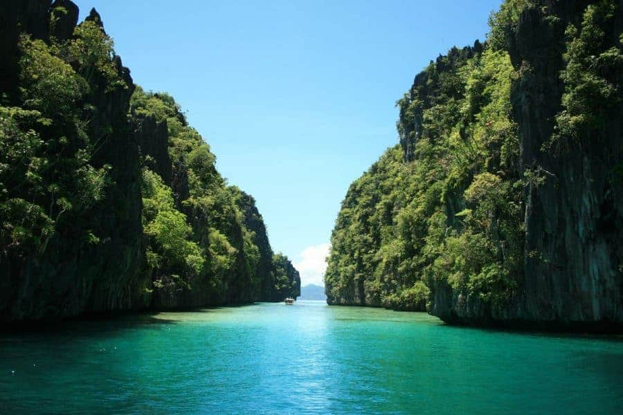 The View From The Boat In El Nido