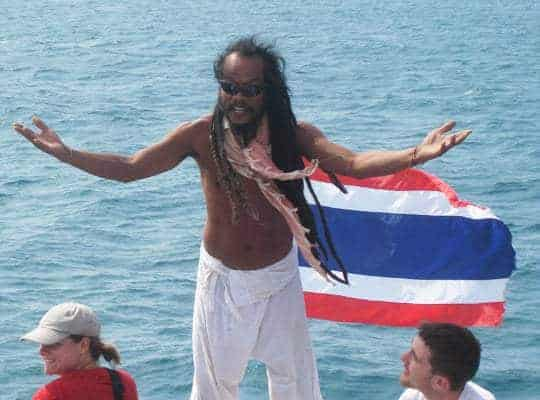 A dreadlocked Job2Do spotted on the boat from Railey to Koh Lanta.