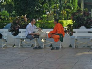 Monk chat in Chiang Mai