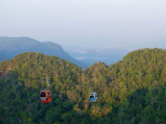 The Cable Car over the Mountains in Langkawi