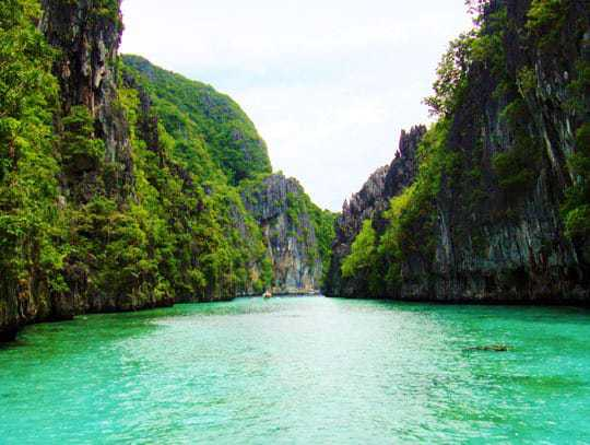 The View From The Boat in El Nido, Philippines