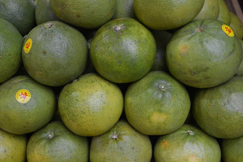 Pomelos at the market in China