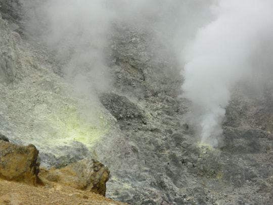 A volcano in The Philippines lets off some steam