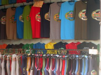 Beer logo vests in the shops of South East Asia