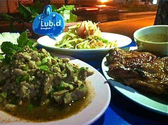 Great street food from 'The Wall', a 5-min walk from Lub d, Siam - all for $7 USD!