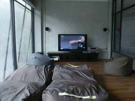 Need a day off from backpacking? Relax here at the Lub d ' movie theatre'