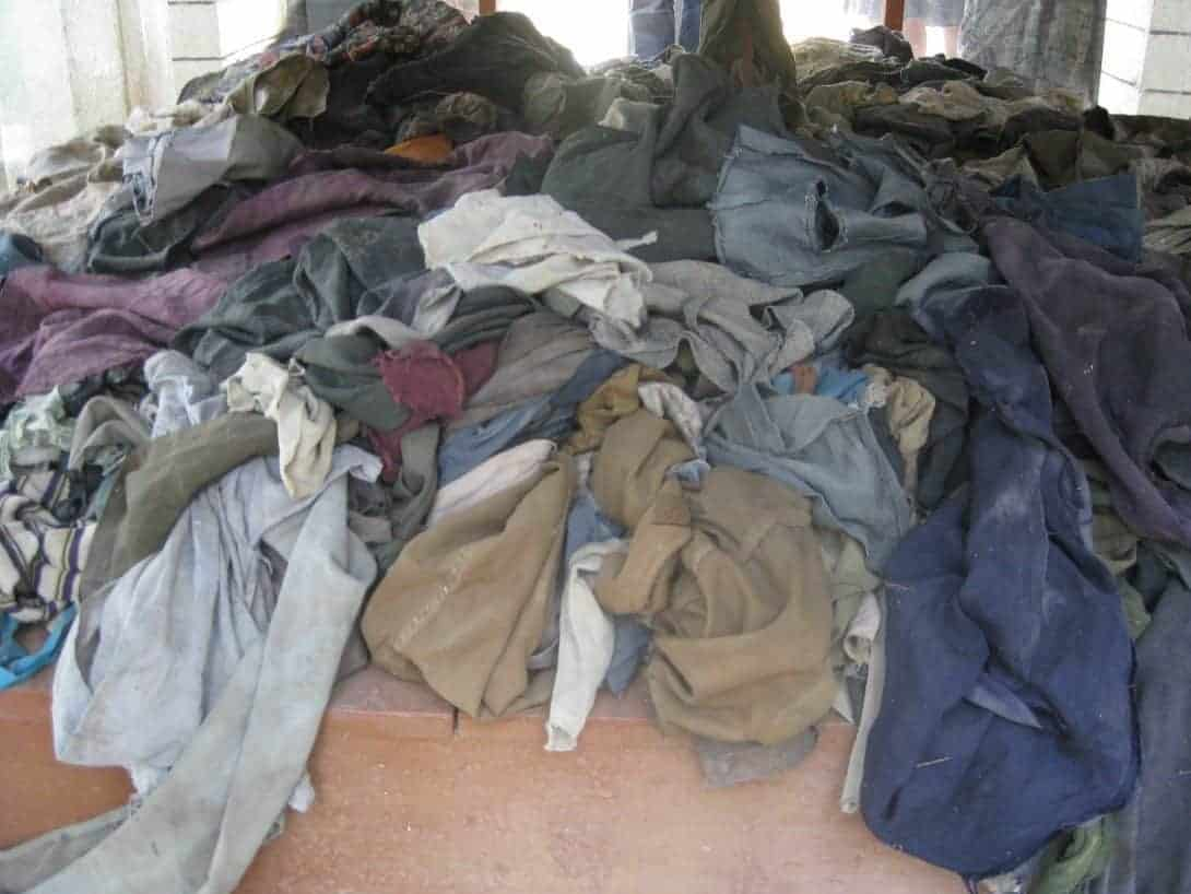 Clothes of victims of the Khmer Rouge