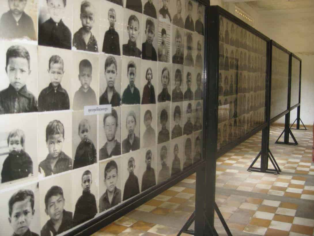 Photos of 'enemies of the state' at Tuol Sleng S21 Genocide Museum, Phnom Penh, Cambodia.
