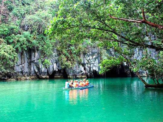 A Boat Is About To Enter The Underground River, Puerto Princesa