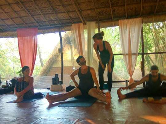 Wide legged pose, Becoming a Yoga Teacher in India