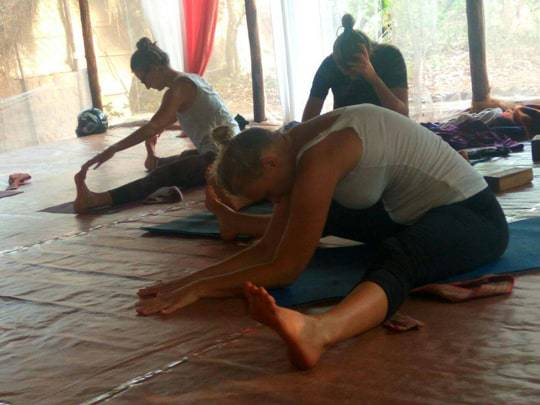 Morning class, Becoming a Yoga Teacher in India