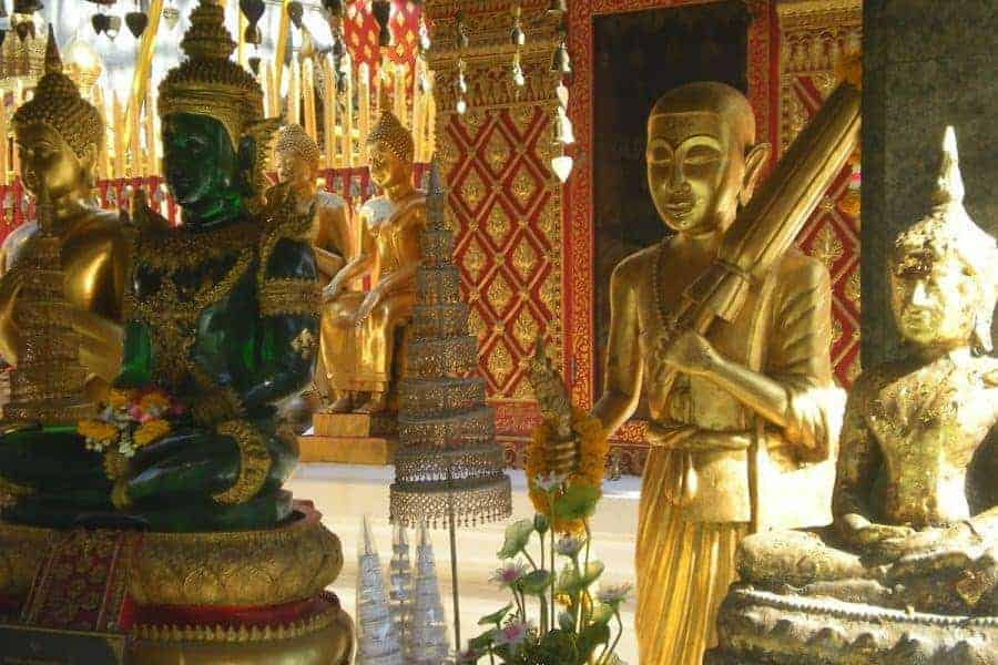 Buddha statues. Show some respect