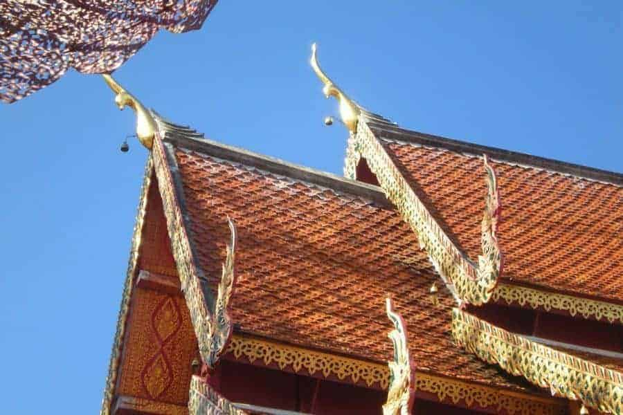 The roof of a temple in Chiang Mai
