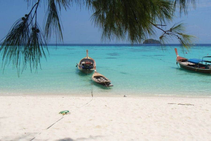 Two boats on the beach at Koh Lipe