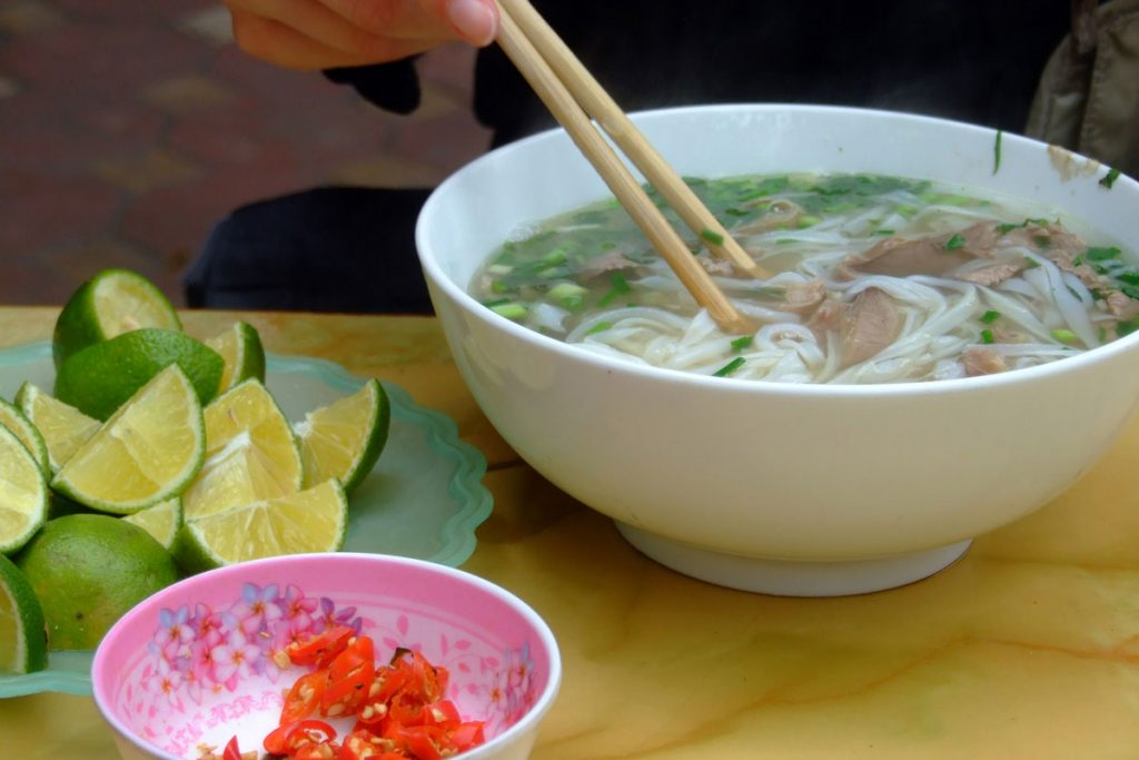 Hanoi is the home of Phở, the famous noodle dish.