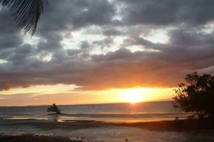 A sunset over the water in Siquijor