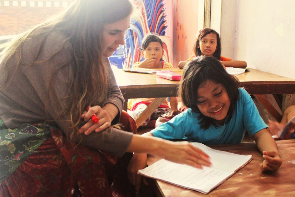 Teaching English with the International Humanity Foundation in Jakarta, Indonesia.
