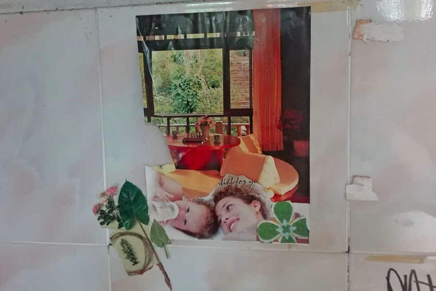 A-picture-of-a-luxury-resort-decorating-a-cell-wall-at-Chiang-Mai's-women's-prison