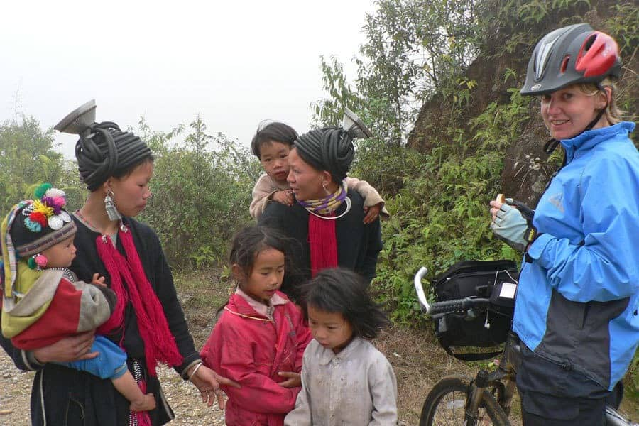Meeting ethnic minority groups on a North Vietnam Cycle Tour