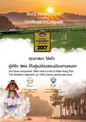 Mae Hong Son Certificate of Conquest.