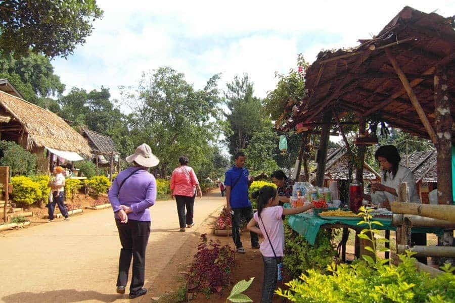 The market town of Soppong, Northern Thailand.