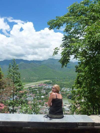 Views from the temple on the top of the hill in Mae Hong Son.