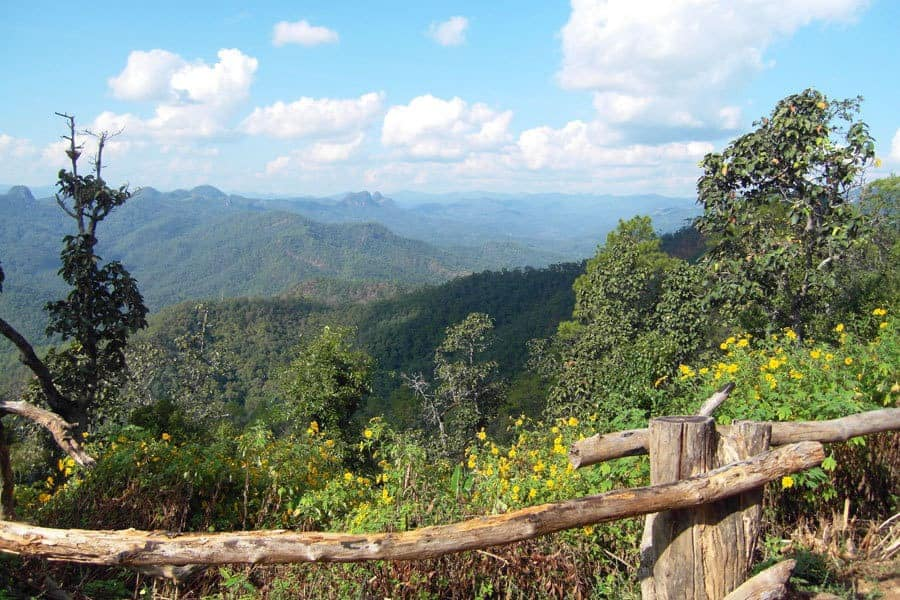 Spectacular Views Across The Landscape on The Mae Hong Song Loop