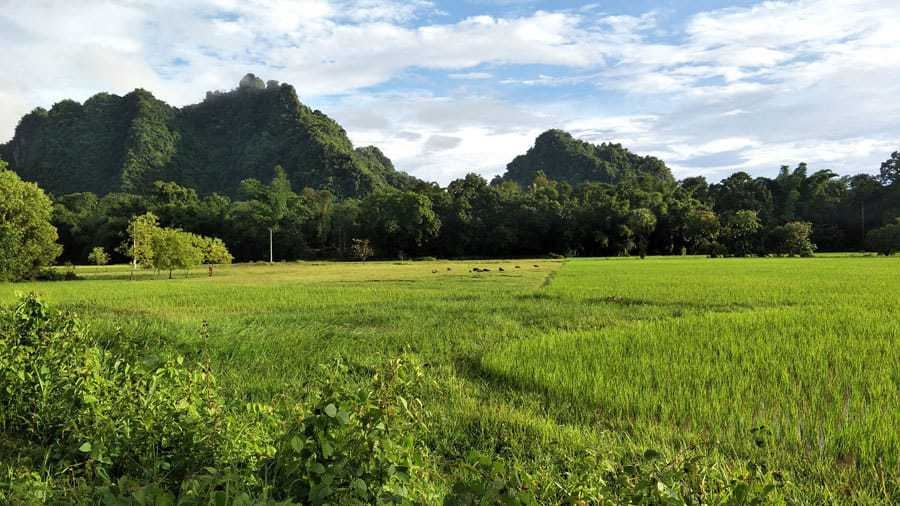The gorgeous scenery around Hpa An, Myanmar.