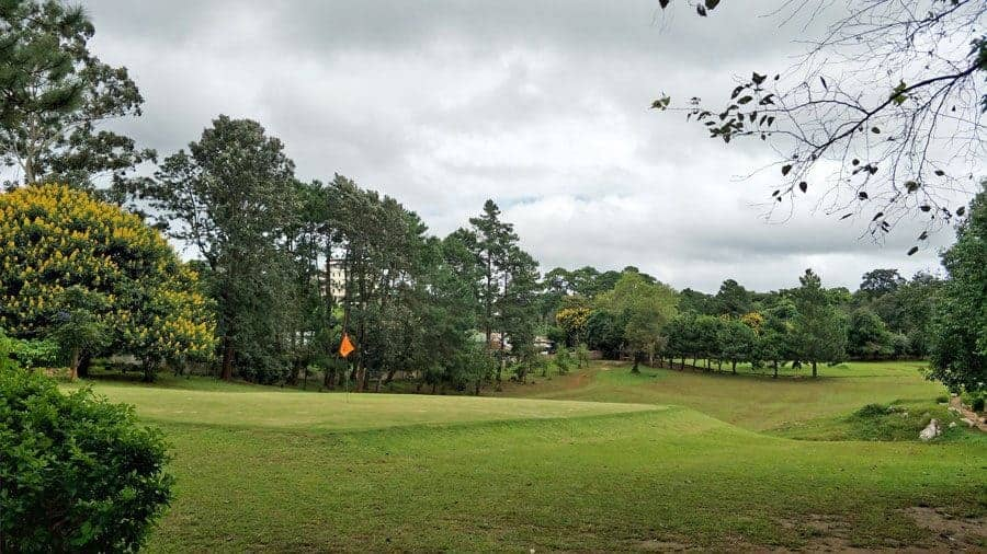 The golf course in Kalaw, Myanmar.