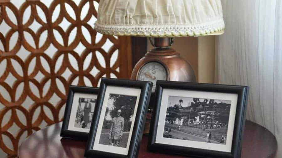 Old photographs and retro deco at the Kalaw Heritage Hotel.
