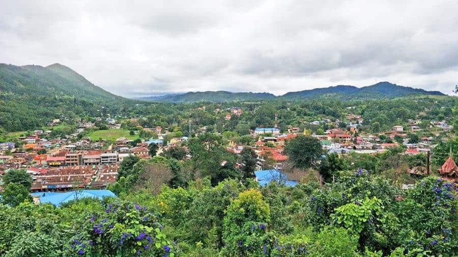 The view from Thein Taung Monastery, Kalaw, Myanmar.