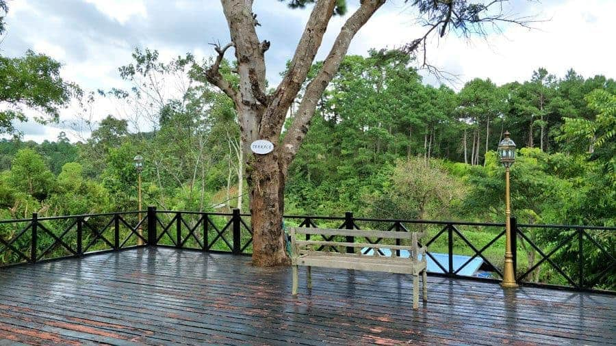 The terrace at Kalaw Heritage Hotel.