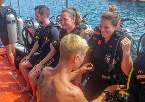 First time divers in Koh Tao!