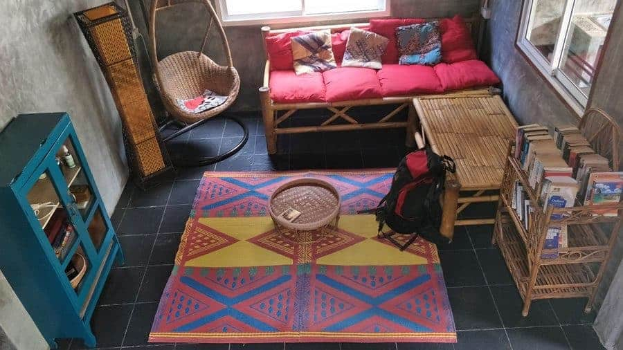 The lounge at Sweet Life Community Guesthouse, Koh Lanta.