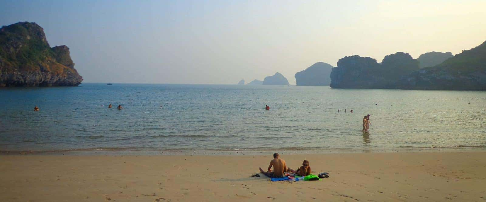 The uncrowded beaches of Cat Ba Island.