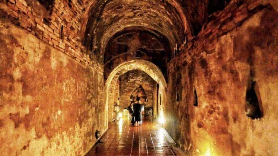 The tunnels of Wat Umong Temple, Chiang Mai, Thailand.