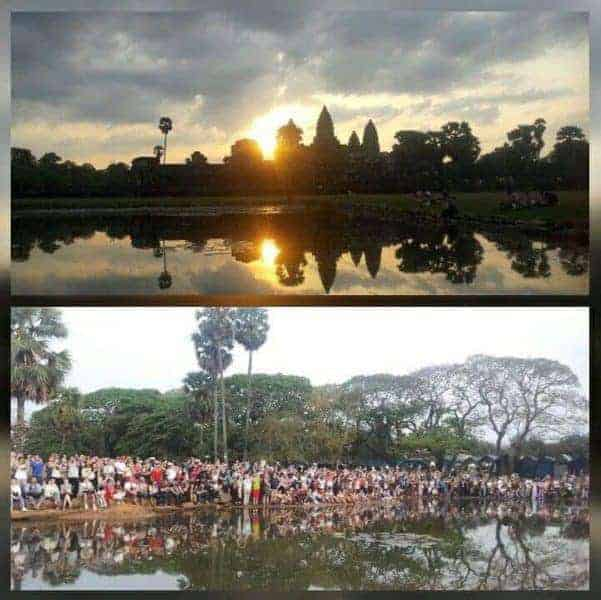 Sunrise at Angkor Wat. What happens when you look the other way?