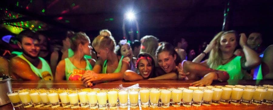 Get involved! Pre-party warm up drinks at Shiralea.