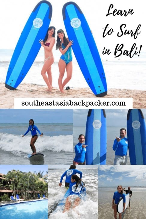 Learn to surf in Bali, Indonesia