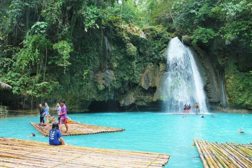 Waterfall in the Philippines.